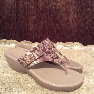 Cole Haan Margate Wedges In Roccia Snake Sz 9.5 B